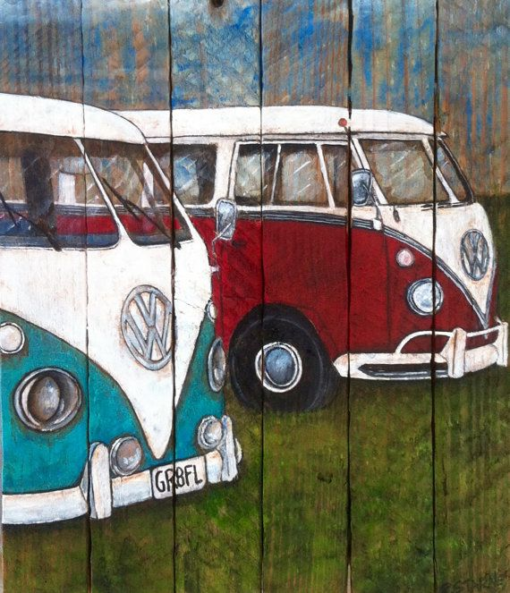 Retro VW Campervan Canvases Set Of 3 New /& Sealed