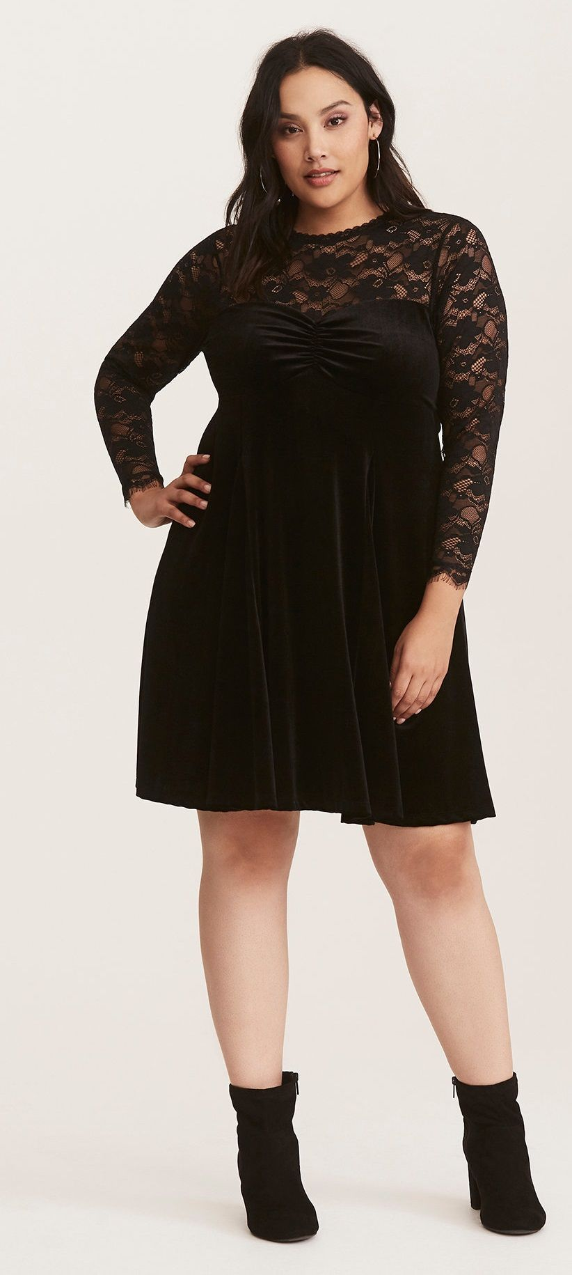 052d7888334 Plus Size Velvet   Lace Dress - Plus Size Holiday Party Dress - Plus Size  Cocktail Dress  plussize