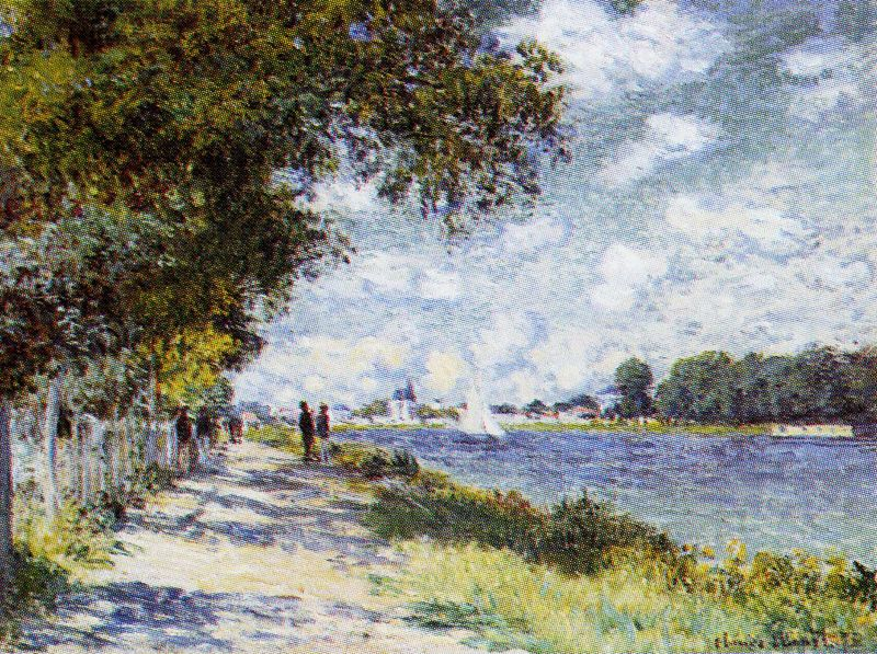 Claude Monet The Seine At Argenteuil Monet Art Claude Monet Paintings Claude Monet