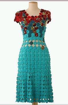 artesanato com fuxico vestido