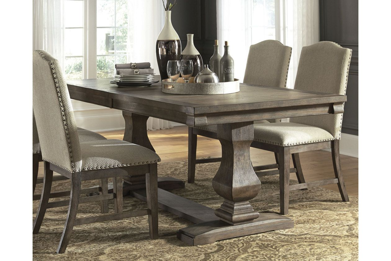 Johnelle Dining Room Extension Table With Images Dining Room
