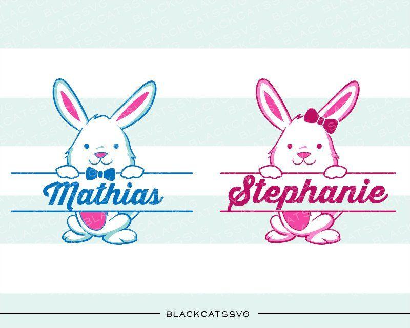 Easter bunny boy. Bunnies svg and girl