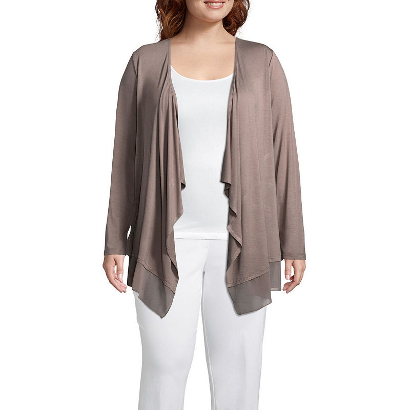 9081832b853 Worthington Long Sleeve Open Front Cardigan - Plus