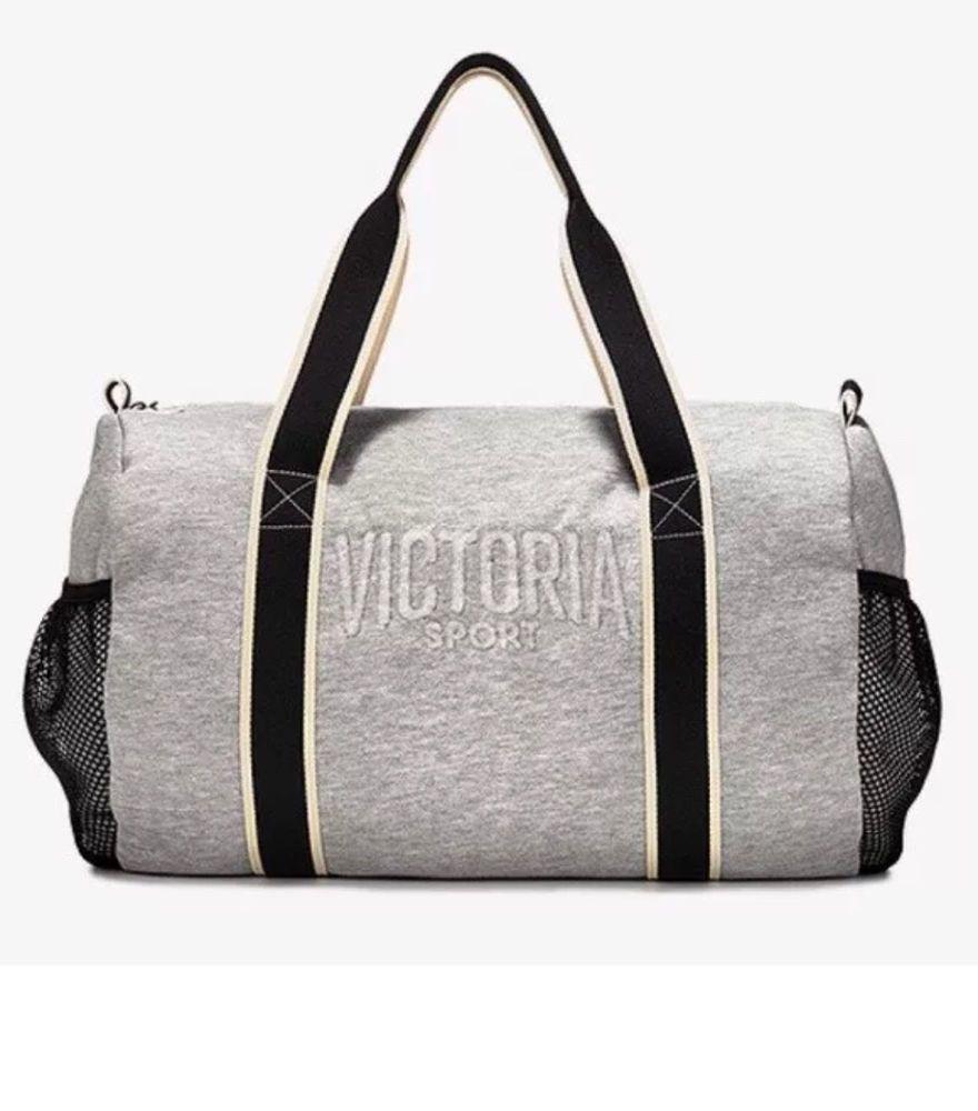 9b78247d8d6c ... Victoria Secret Sport Logo Grey Duffle Bag Gym Travel Duffel Weekender  Tote Gray cheap for discount ...