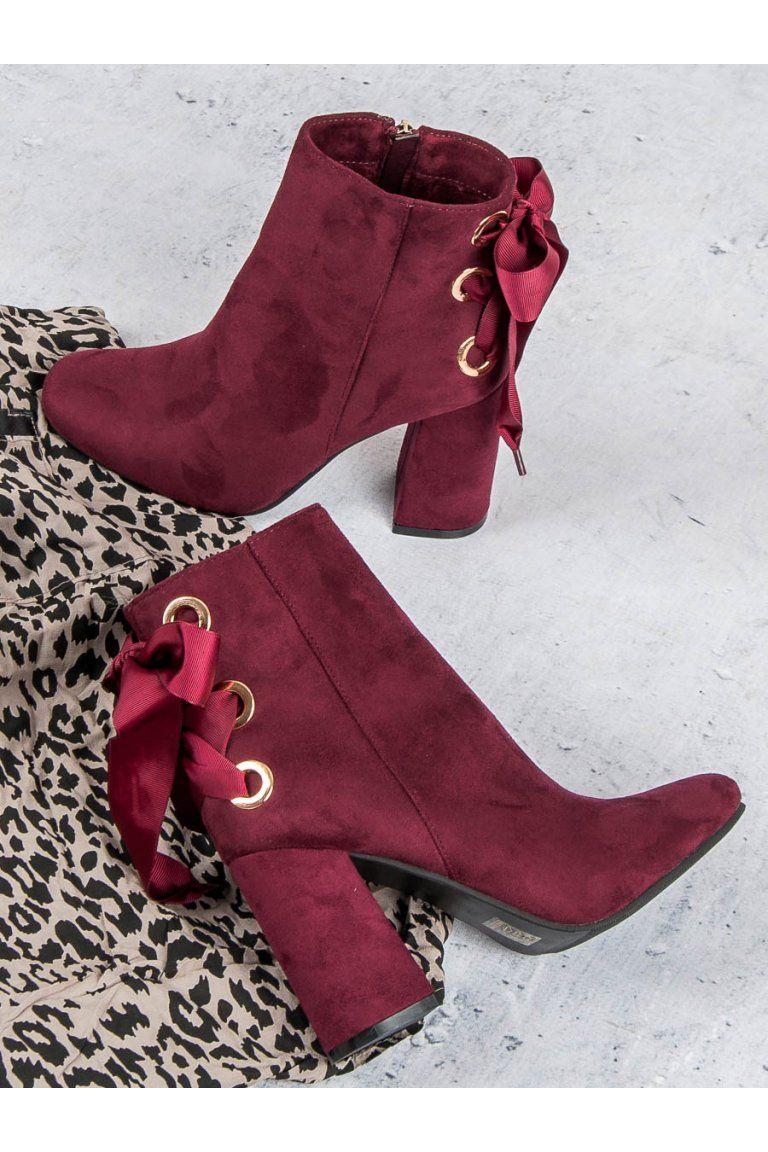 1d3f895d37bc8 Bordové topánky na stĺpovom opätku Ideal Shoes | Topánky - NAJ.SK ...