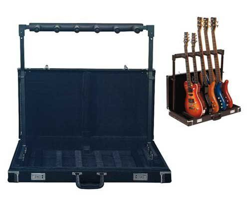 rockstand hardshell folding multiple guitar stand for 5 guitars by rockstand finally. Black Bedroom Furniture Sets. Home Design Ideas