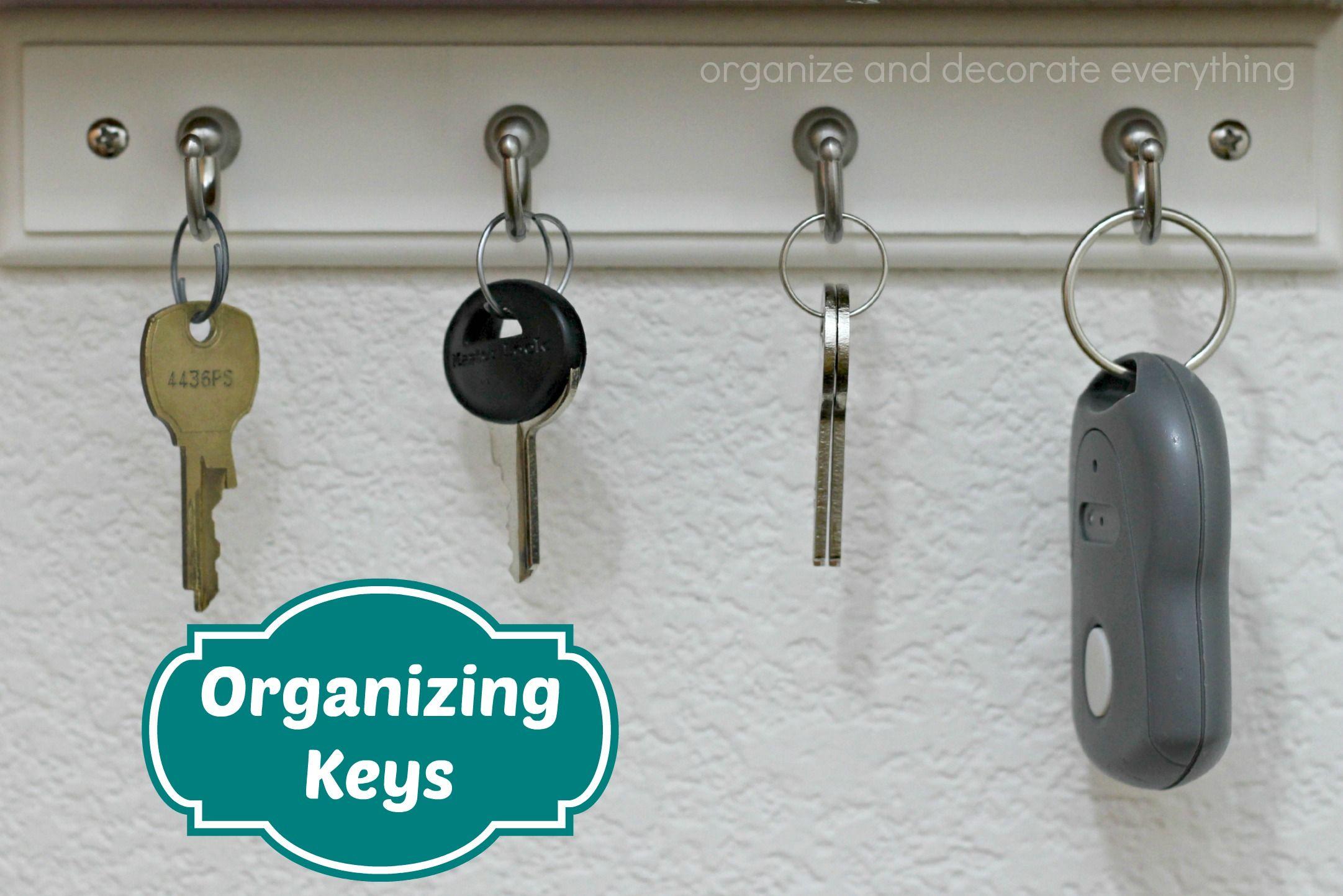 15 Minute Organizing - Keys - Organize and Decorate Everything #31days #15minuteorganizing