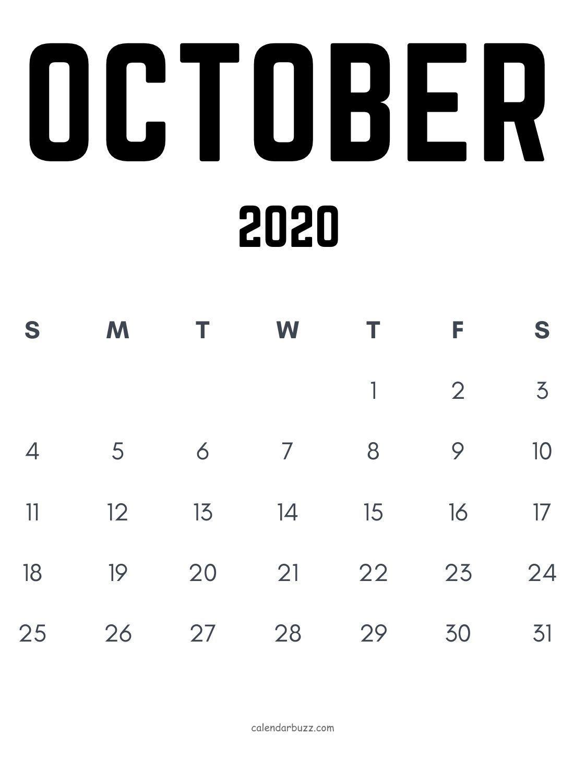 Free October Word Editable Calendar Template In Black