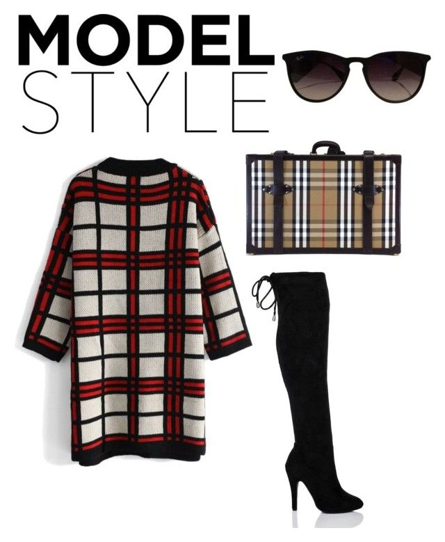 """Be a Model"" by ivona-naneva on Polyvore featuring Chicwish, Burberry and Ray-Ban"