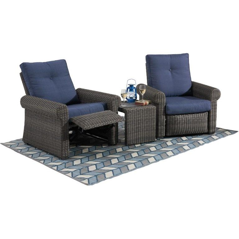 Instyle Outdoor Boulder Creek Wicker Reclining Chair With Cushion Outdoor Furniture Furniture Sets Furniture
