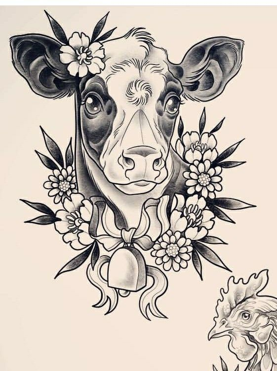 Photo of # tatouage # vache tatouage