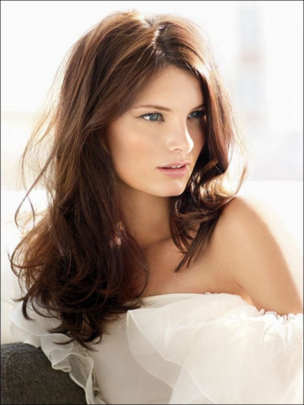 Medium Brown Hair Color For Fair Skin With Pony & Simple natural ...