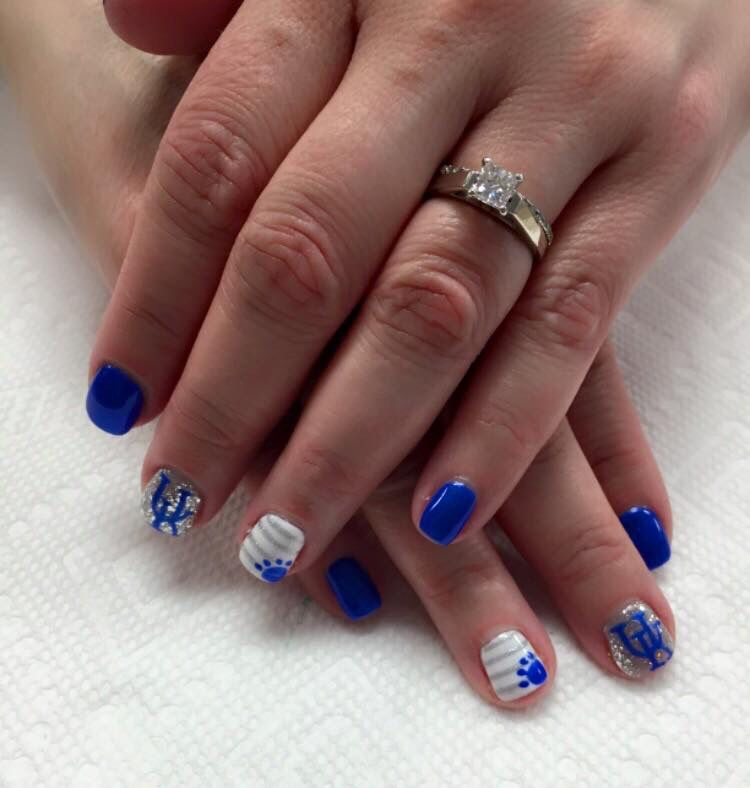 UK Kentucky wildcat nails #BBN | Random | Pinterest | Cat nails, Uk ...