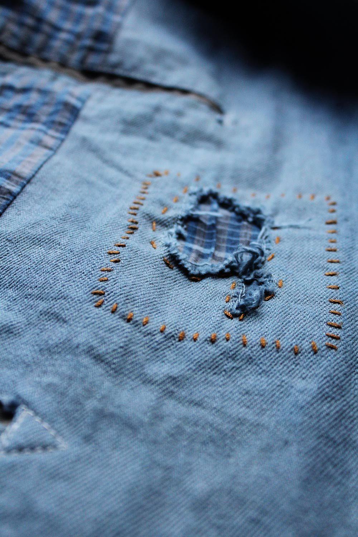 The Concrete Co. Madrid - Sashiko stitching detail
