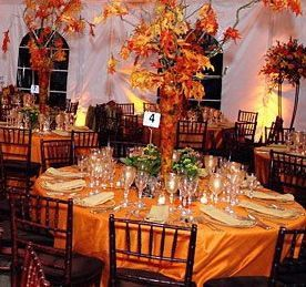 An Affair to Remember…The Beginnings of Planning a Fall Wedding - Fall Leaves Centerpiece