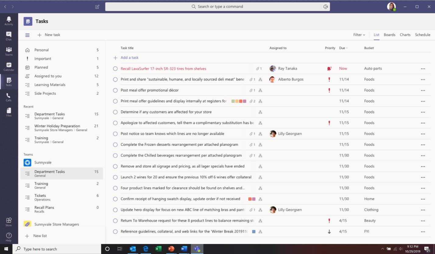 Announcing Tasks In Teams A Coherent Task Management Experience In Teams Task Management Task Sharepoint