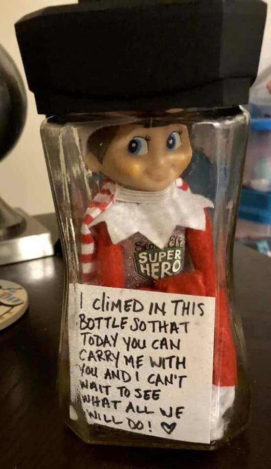 Elf on the shelf ideas in 2019 | Awesome elf on the shelf ideas, Xmas elf, Elf on the shelf