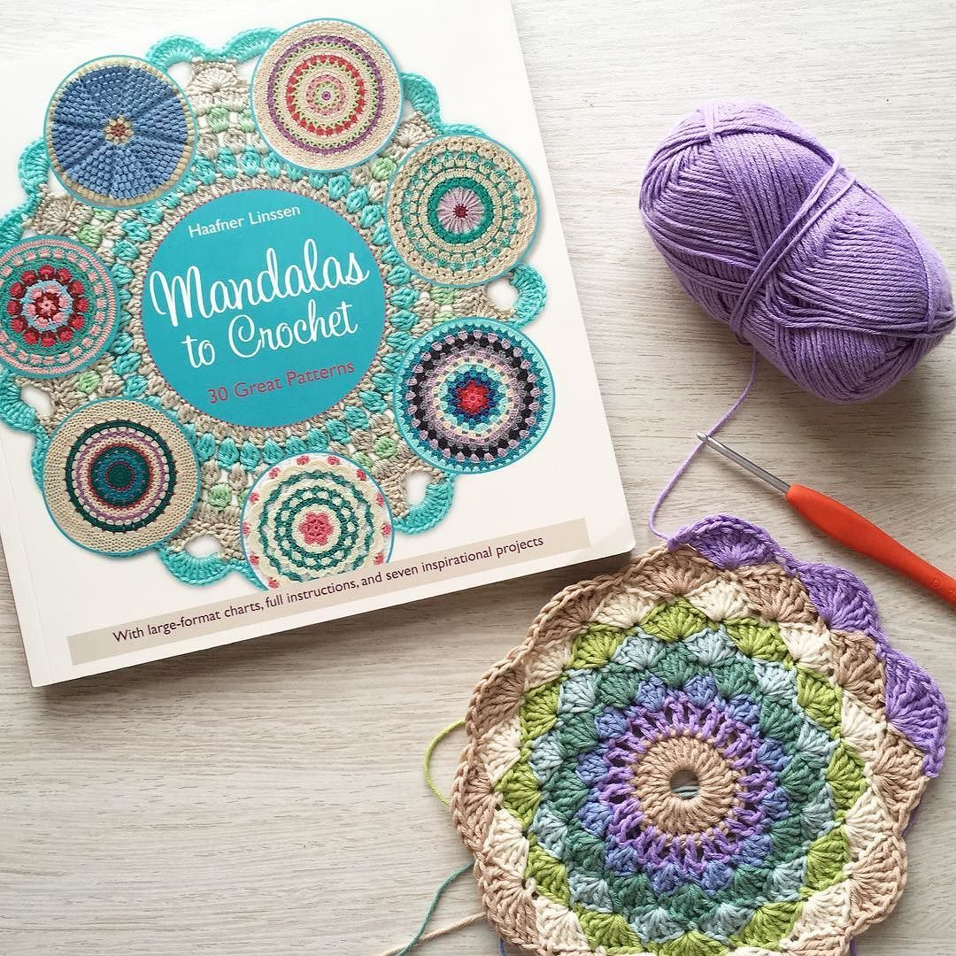 Started this mandala from the gorgeous book Mandalas to Crochet by ...