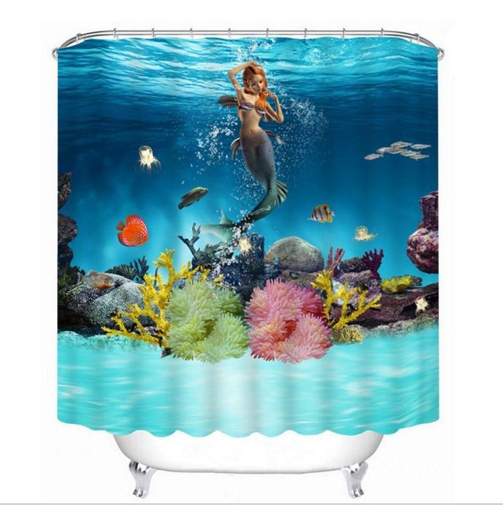 39 Wondrous Mermaid Shower Tiles Designs Ideas For Bathroom