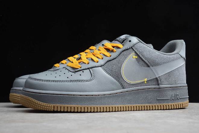 Nike Air Force 1 Low Cool Grey Yellow CQ6367 001