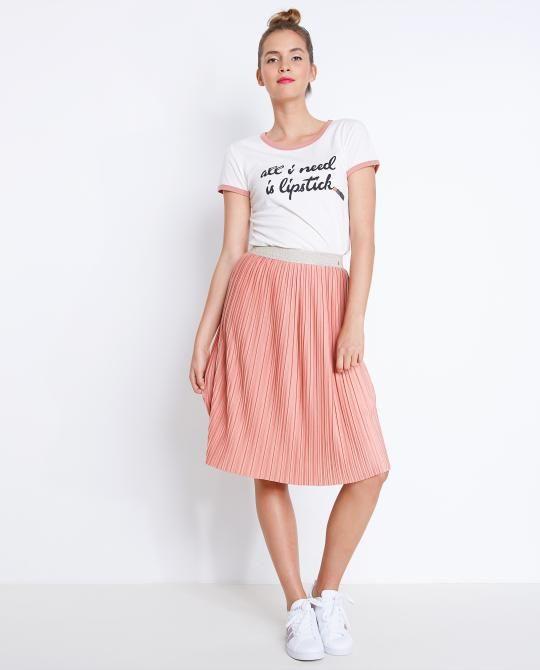 Verwonderlijk Oudroze plissé rok (met afbeeldingen) | Plooirok outfit, Rok, Rok RW-99