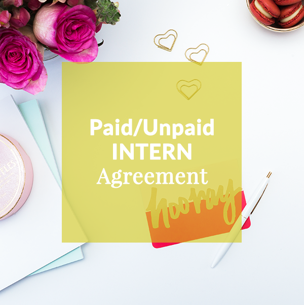 Internship Agreement Template Contract Contract Template