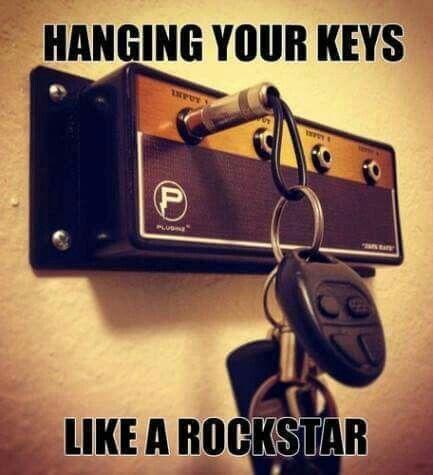 Rockstar amp key hanger for the win!