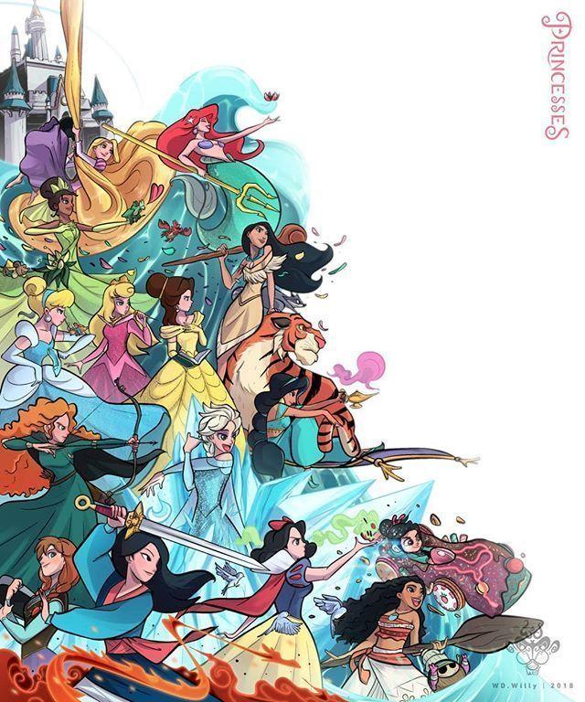 Photo of Meine Prinzessinnen dis • • #disneyprincess #princess #Disney #illustration -…