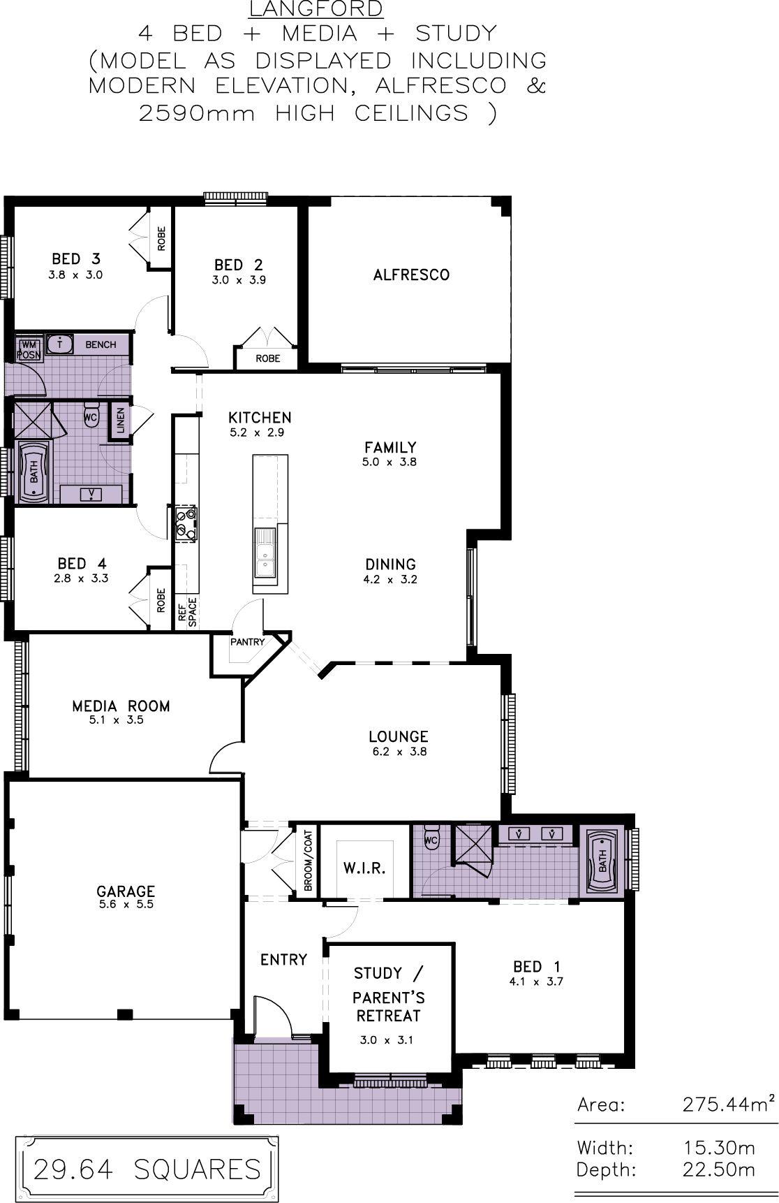 Langford Allworth Homes Granny Flat Resort Style Media Room