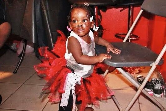 Baby harmony at her first birthday party 2012