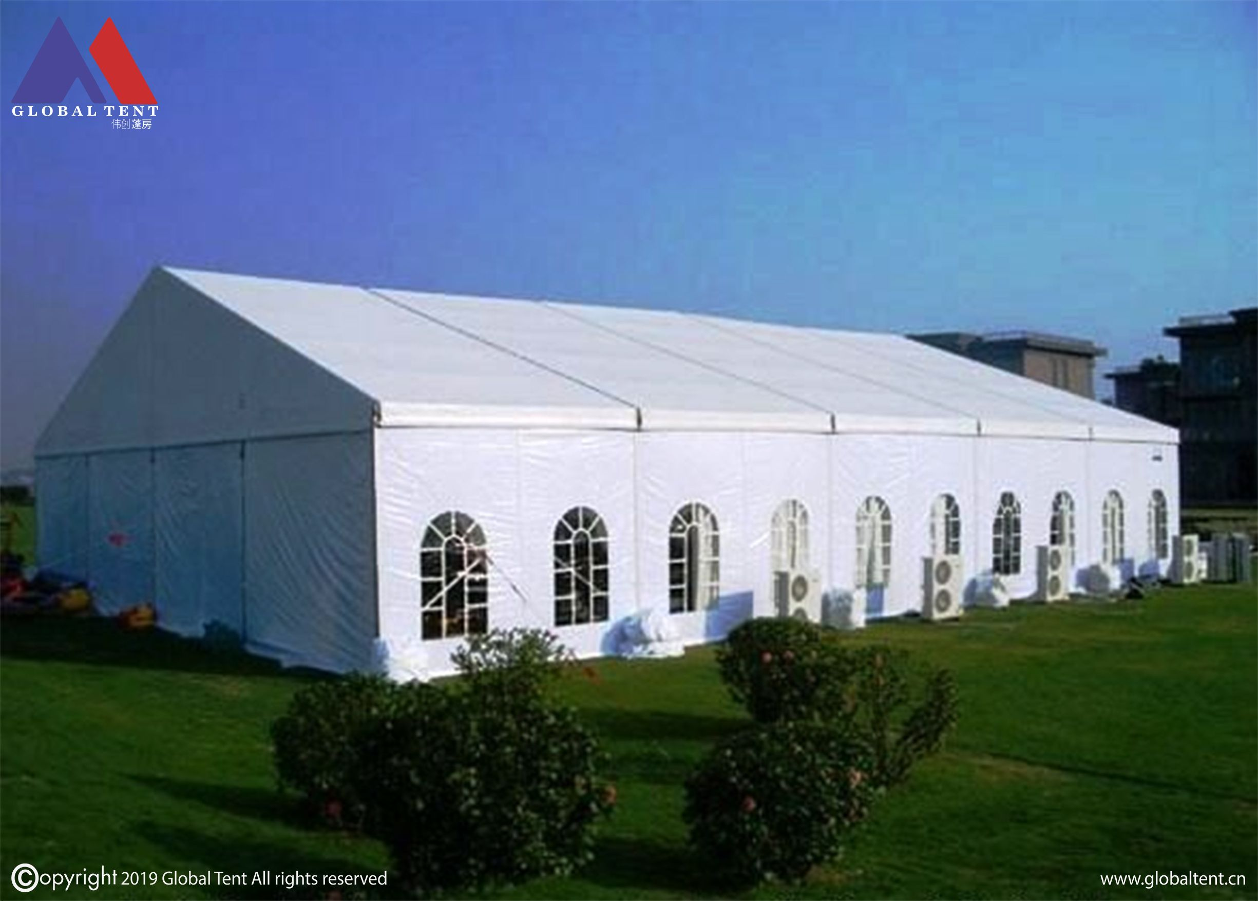 Strong PVC fabric along with Aluminum Structure. We're