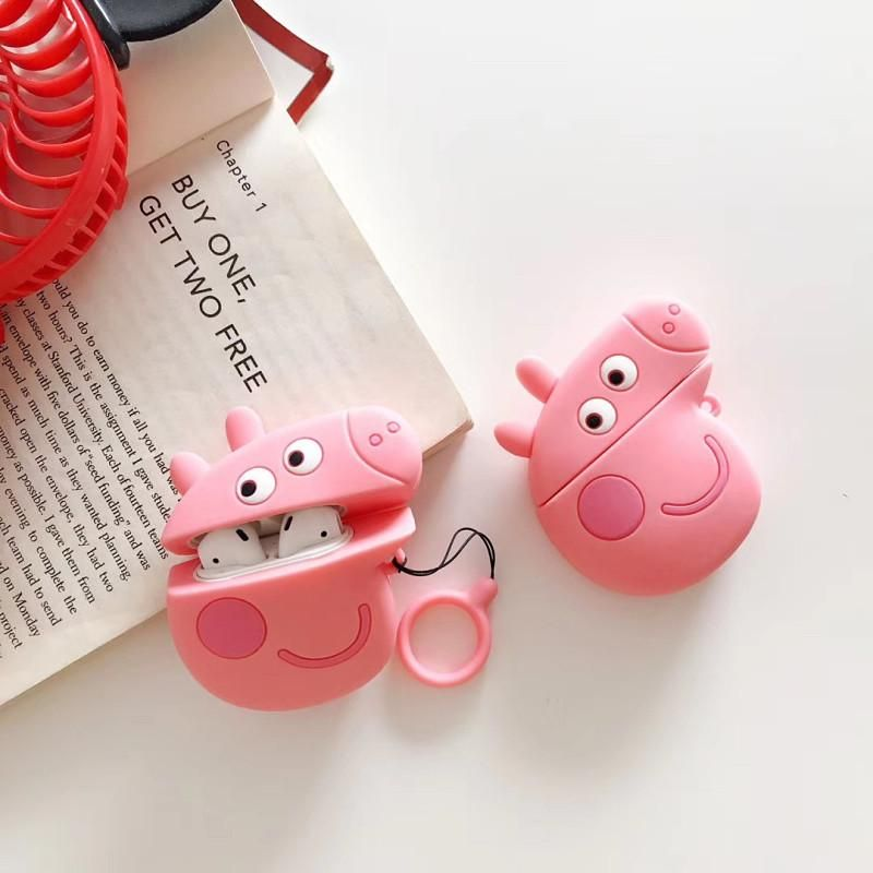 Peppa Pig Airpods Case For Iphone Pn1552 Material Soft Note These Can Be Available For Iphone Include The Ring Airpod Case Apple Phone Case Iphone Cases