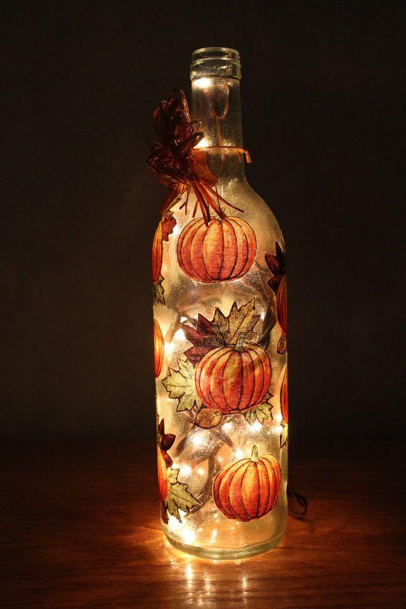 Wine Bottle Decoration With Lights Wine Bottle  Lighted Wine Bottle  Decorativemdcreationsco