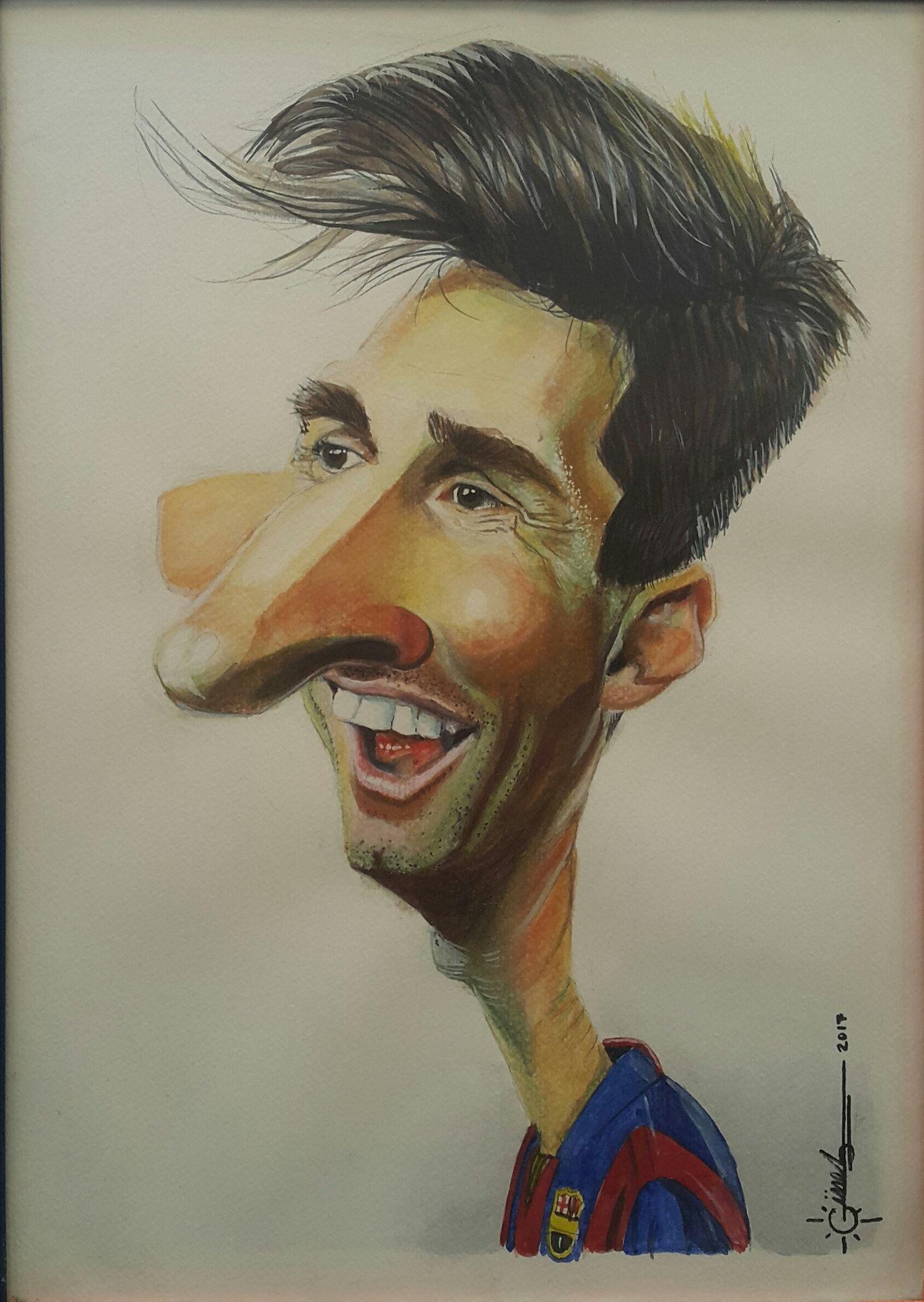 Lionel Messi By Mehmet Ali Gne 30cm X 42cm Https Gallerymak