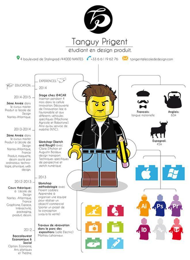 cet  u00e9tudiant en design a fait son cv en format lego  on l u0026 39 embauche direct