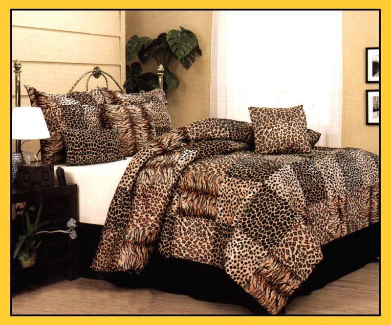 Leopard Comforter Set Queen Details About Leopard Tiger Giraffe