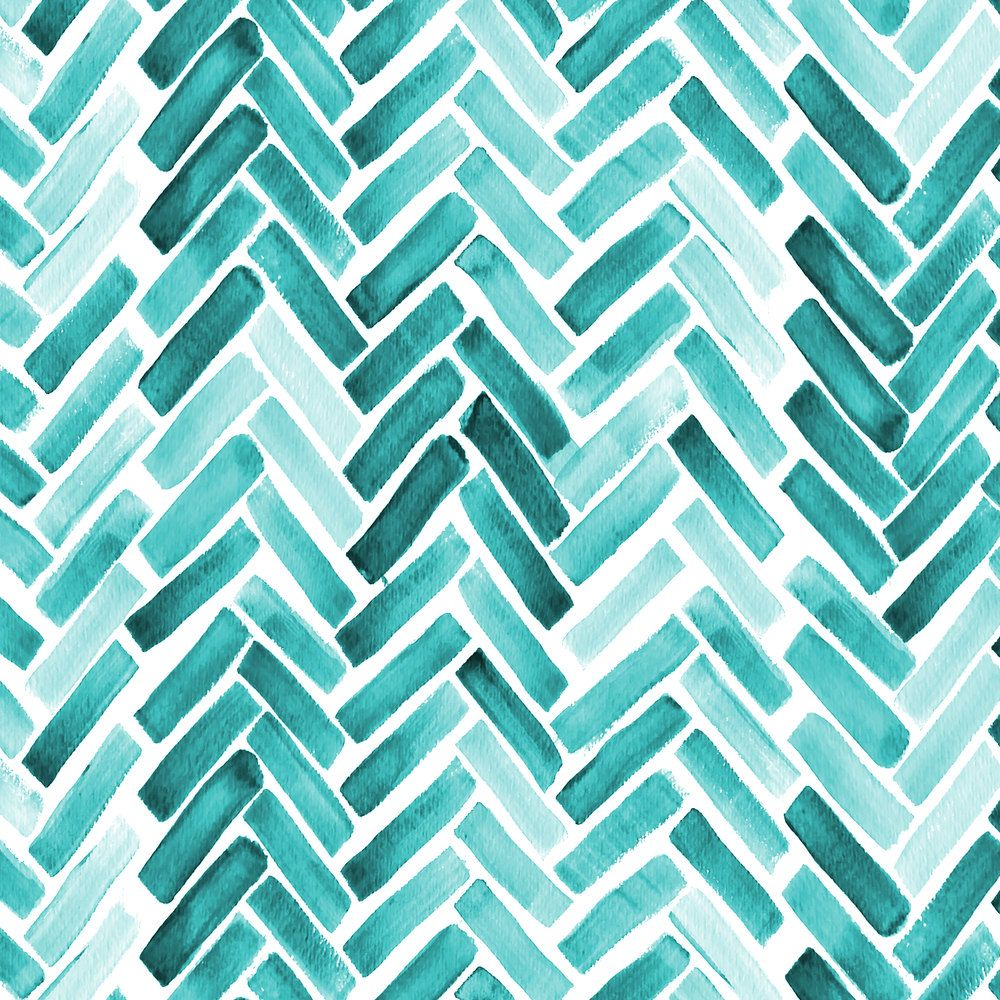 Mint Green Chevron Fabric - Mint Herringbone Watercolor By ...