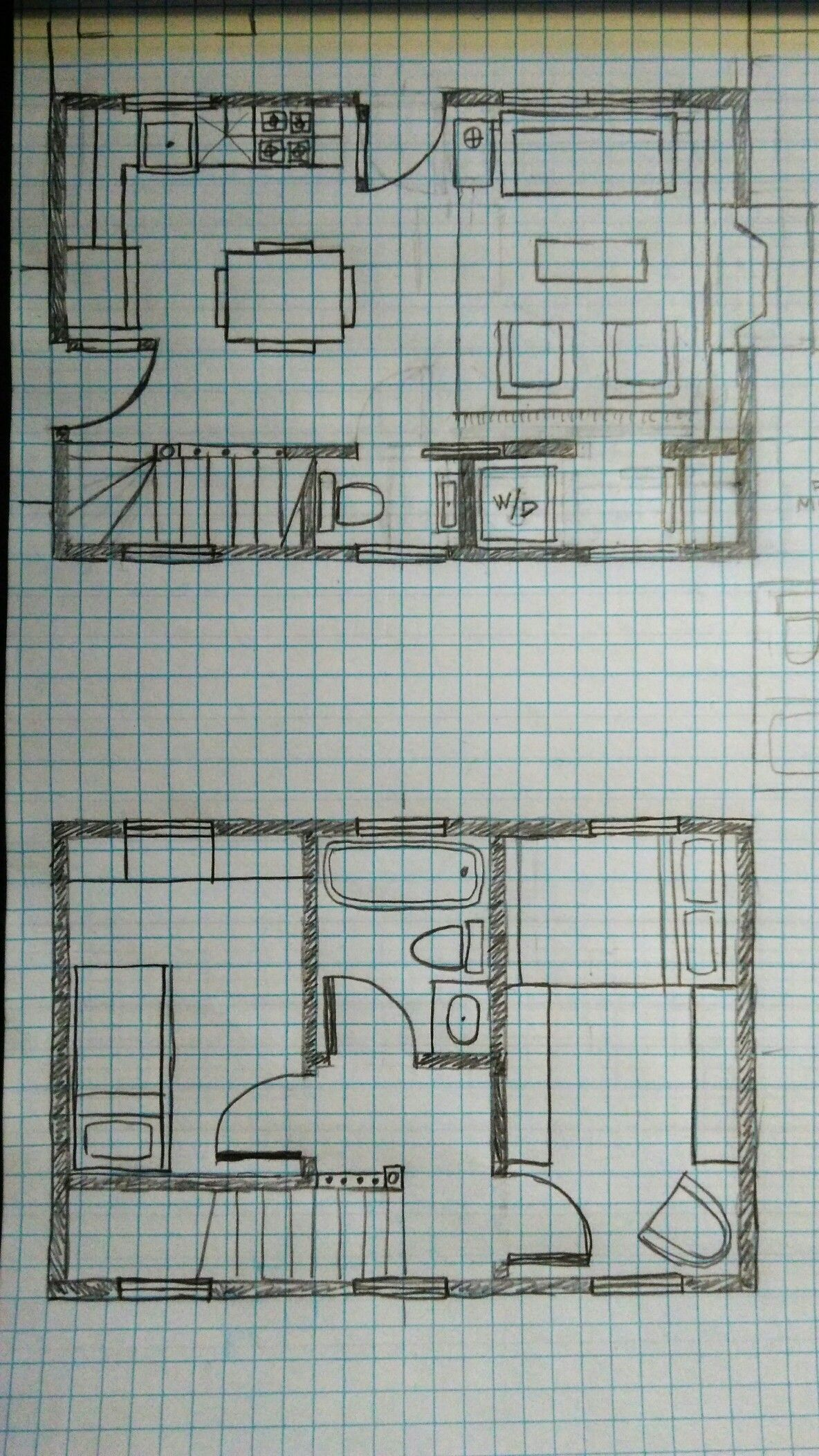 16x24 Two Story Shed Layout for Home Depot Shed ($10k): 2bed/1.5 ...