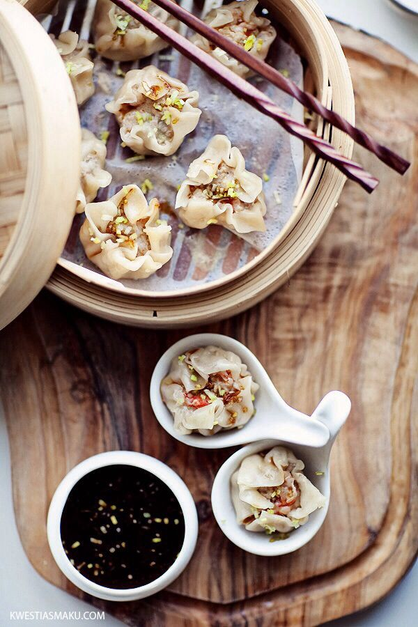 Shumai chinese glutinous rice dumplings asian food pinterest chinese dumplings dim sum steamed open dumplings with minced meat and shrimp seasoned with ginger and soy sauce forumfinder Image collections