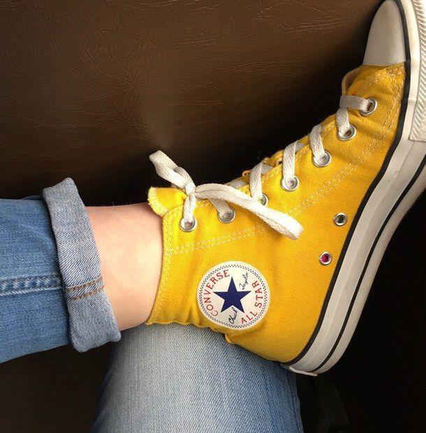 converse haute jaune moutarde