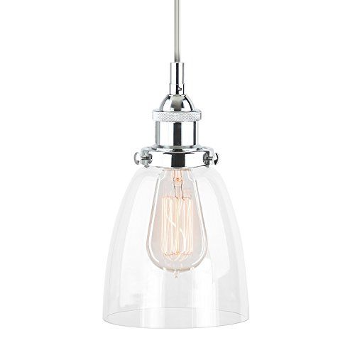 Linea di Liara Fiorentino Polished Chrome One-Light Industrial Factory Pendant Lamp with Clear Glass Shade LL-P281-PC Linea di Liara http://www.amazon.com/dp/B015QXGT3C/ref=cm_sw_r_pi_dp_myOTwb1F3V7AT