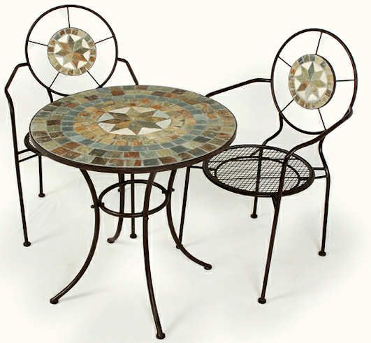 Ellister Zurich Mosaic Bistro Set Two Seater The Is A Patio Comprising Chairs And Matching