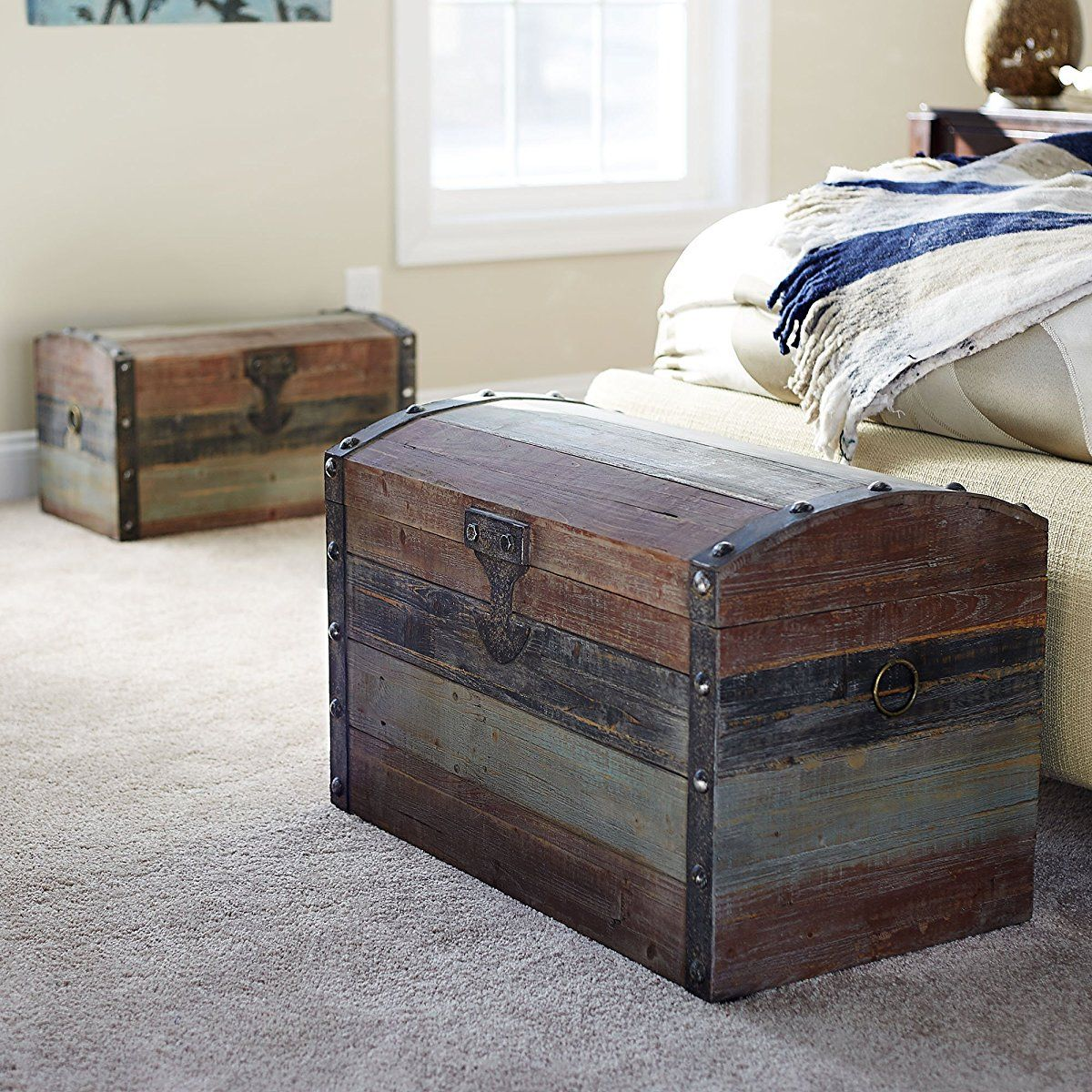 Vintage Wooden Storage Trunk