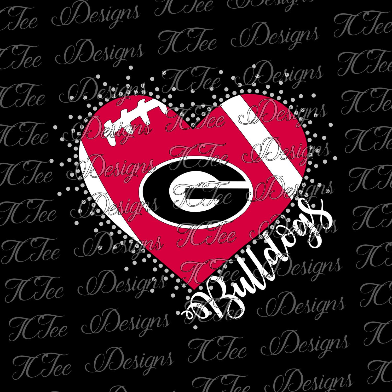 bulldogs heart love my georgia bulldogs mixed media rhinestone