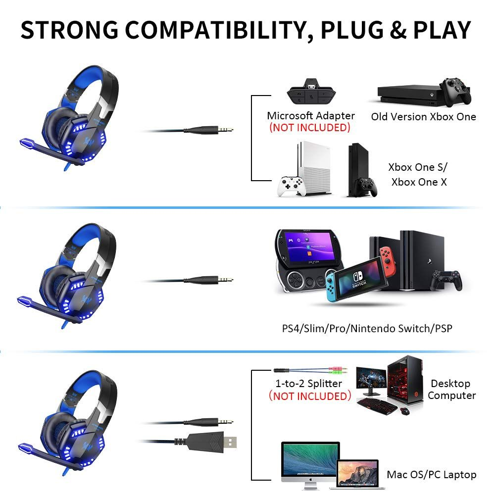 VersionTECH  G2000 Stereo Gaming Headset for Xbox One PS4 PC