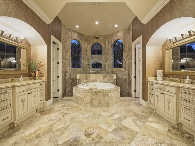 Naples luxury homes traditional elegant luxurious high for Bath remodel naples fl