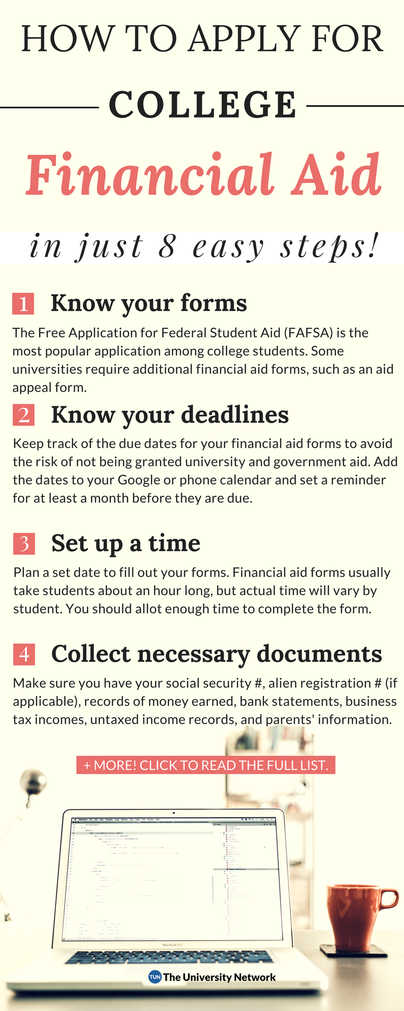 Applying For Financial Aid In 8 Easy Steps The University Network Financial Aid For College Apply For College Scholarships For College