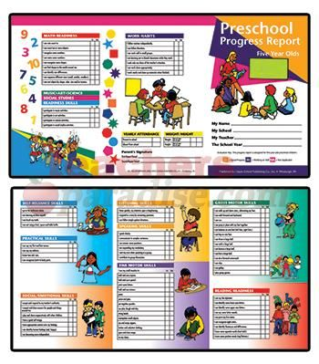 Sample Preschool Report Card  Google Search  Summer Camp
