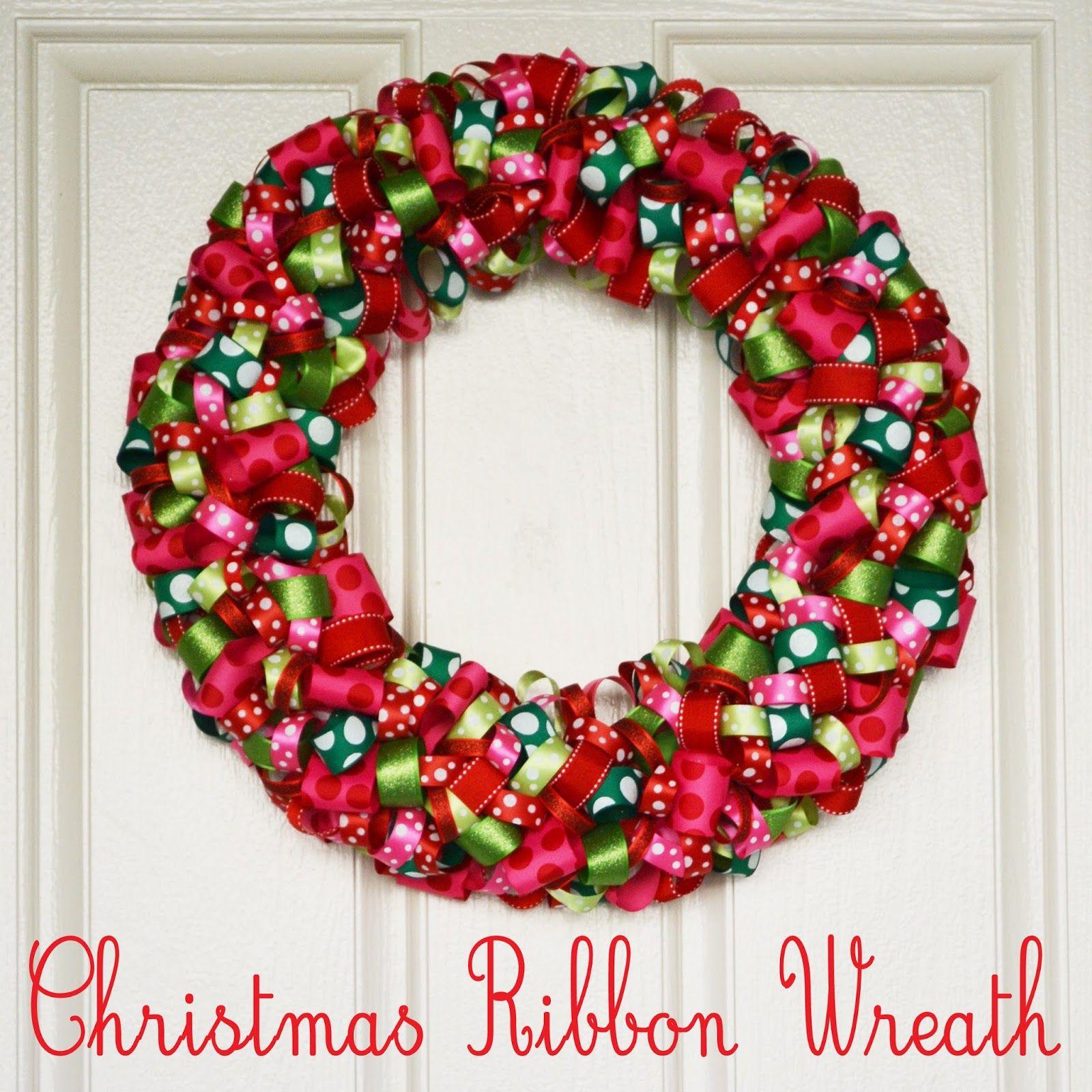 polkadots on parade christmas ribbon wreath