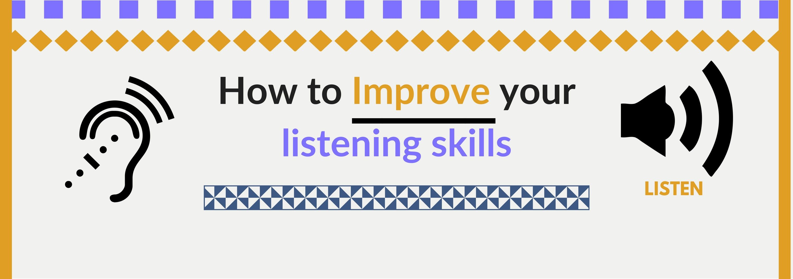 How to improve your listening skills with images